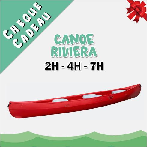 Chèque Cadeau Location Canoë Riviera
