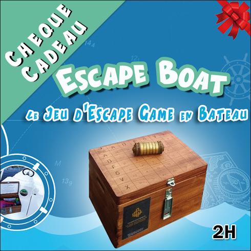 Chèque Cadeau Escape Boat – bateau électrique 2H