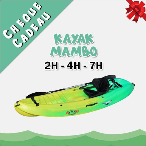 Chèque Cadeau Location Kayak Mambo