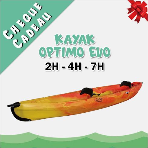 Chèque Cadeau Location Kayak Optimo Evo