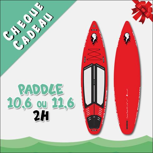 Chèque Cadeau Location Paddle 10,6 ou 11,6 2H