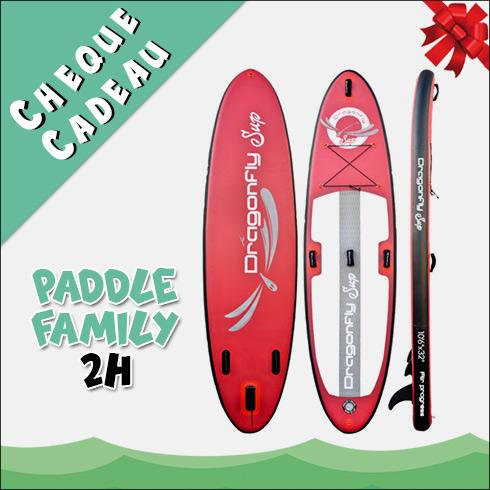 Chèque Cadeau Location Paddle Family 2H